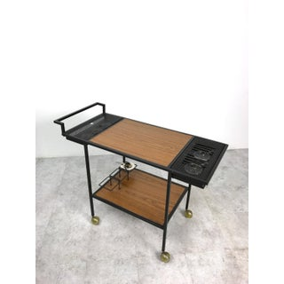 Mid-Century Modern Iron Serving Bar Cart Trolley Preview