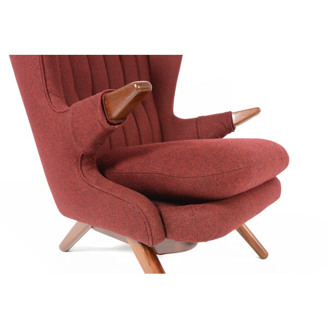 Red Svend Skipper Model 91 Burgundy Lounge Chair For Sale - Image 8 of 10