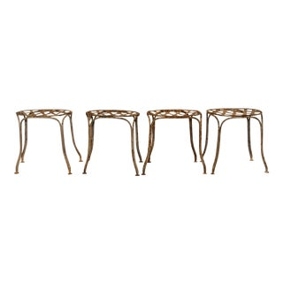 1920s French Garden Stools - Set of 4 For Sale