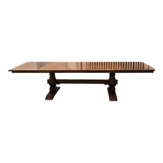 Bausman and Company English Country Trestle Dining Table