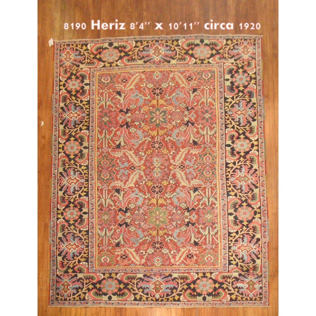 Antique Persian Heriz Rug - 8′4″ × 10′11″ - Image 2 of 11