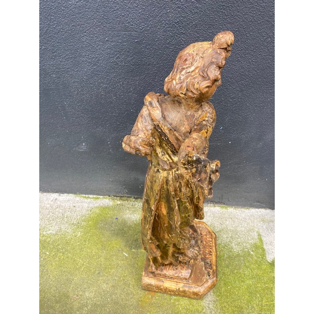 18th Century Italian Giltwood Figure For Sale In Los Angeles - Image 6 of 13
