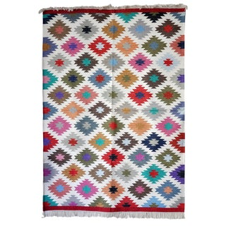 "Contemporary Handwoven ""Kotri"" Area Rug - 4′ × 6′ For Sale"