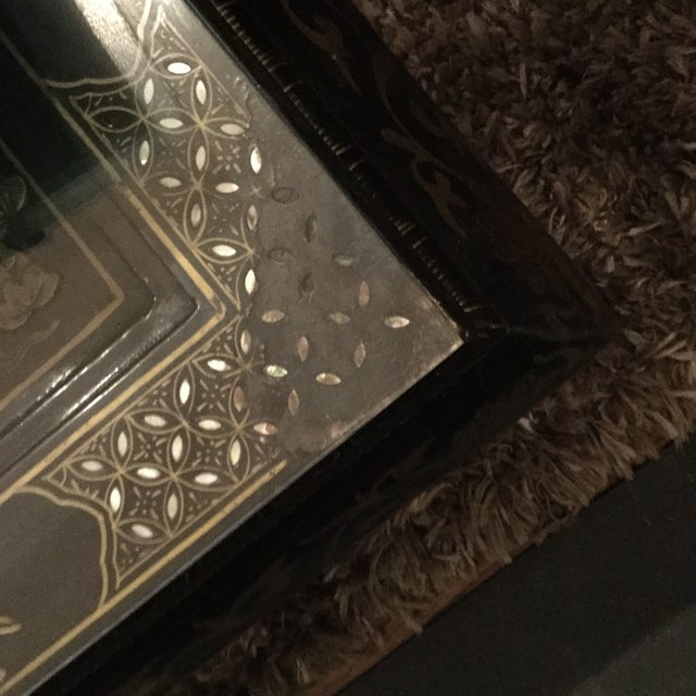 Coffee 1920s Asian Lacquered and Inlaid Coffee Table For Sale - Image 8 of 9