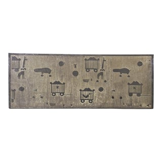 Etched Metal Circus Theme Panel For Sale