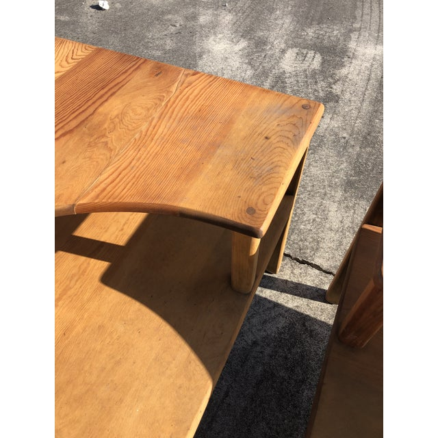 Large Pine Square Two Tier Side Tables - a Pair For Sale - Image 10 of 11