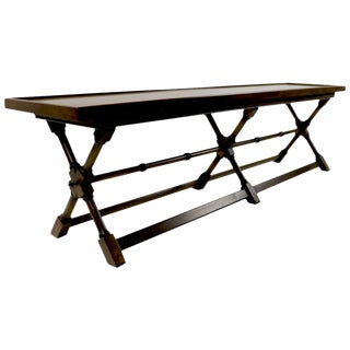X-Base Bench Coffee Table by Brandt For Sale