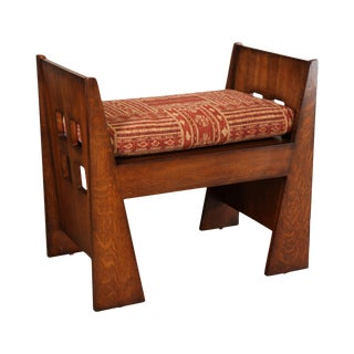 "Stickley Mission Collection Oak ""Limbert Bench"" For Sale"