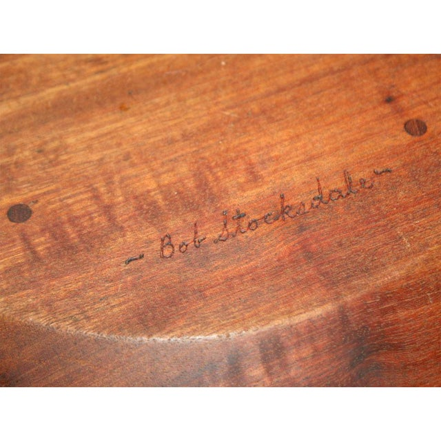 Wood Large Turned Wood Mahogany Bowl by Bob Stocksdale For Sale - Image 7 of 9
