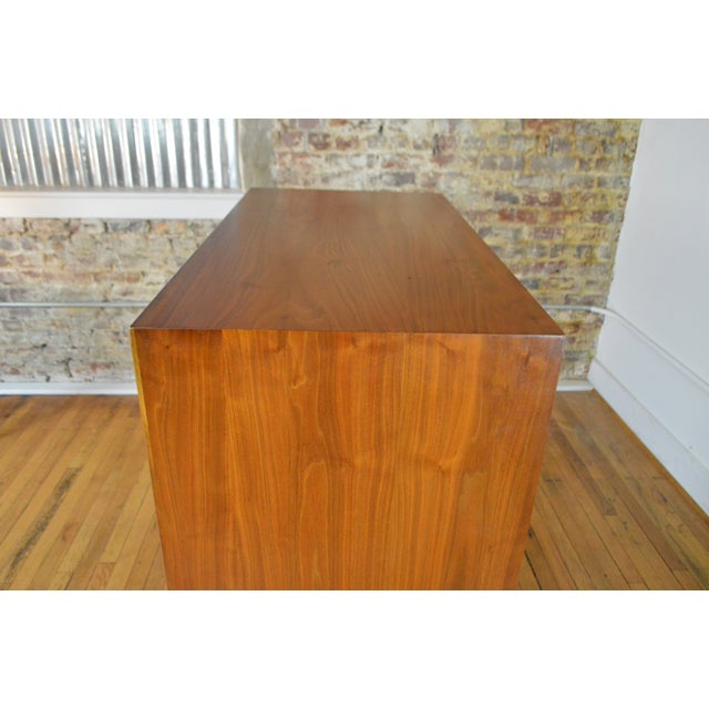 Wood Drexel Declaration Walnut Mid Century Modern Gentleman's Chest For Sale - Image 7 of 9