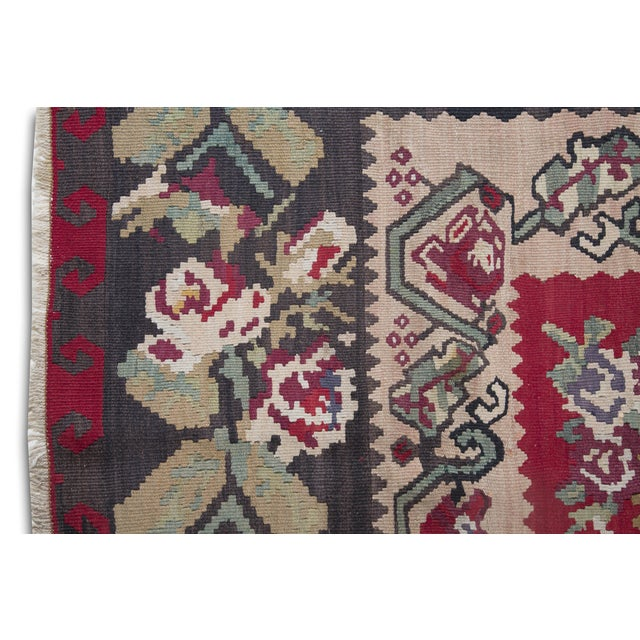 "Anatolia Turkish Kilim Large Rug - 9'6"" X 10'8"" - Image 2 of 10"