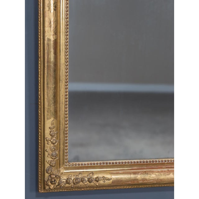 Antique French Louis Philippe Gold Leaf Mirror circa 1870 For Sale In Houston - Image 6 of 10