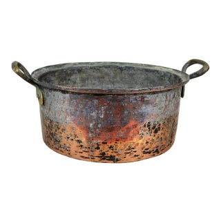 Antique Copper Bowl For Sale