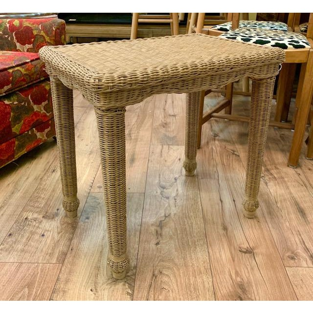 The simplicity of this wicker side table is what we love. Yet the wicker gives it texture ad more character. Pull it up...