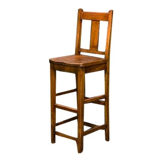 1930s Vintage English Clerk's Chair For Sale