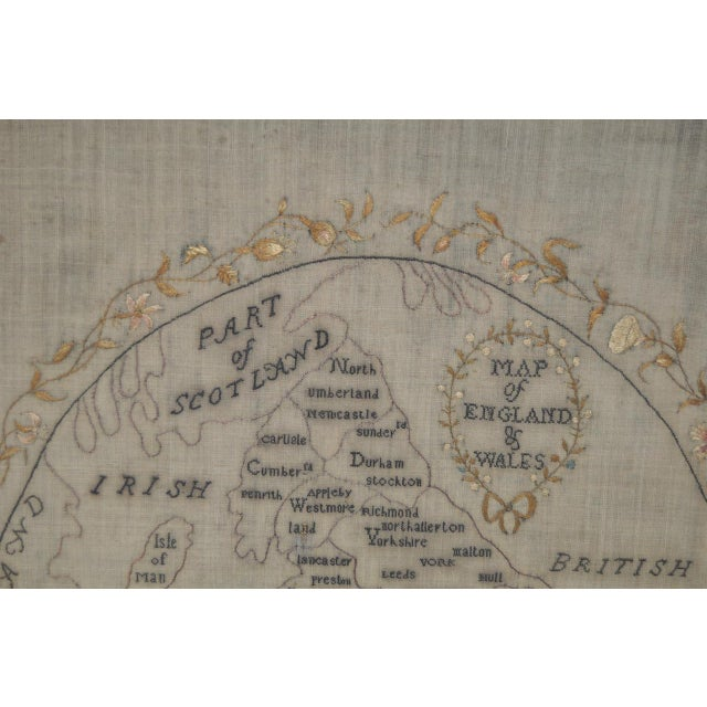 English Traditional Early 19th Century Map of England and Wales Sampler For Sale - Image 3 of 10