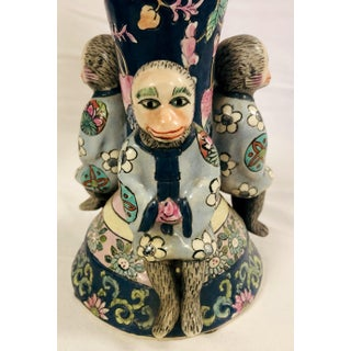 Pair of Chinoiserie Monkey Candle Holders Preview