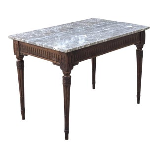 End Table, 19th Century French Neoclassical With Marble Top Ca. 1840 For Sale