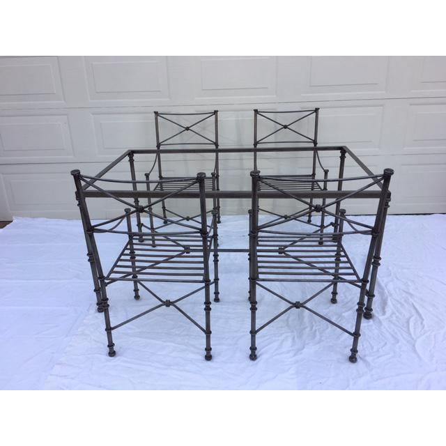 Iron Neoclassical Iron Table & Chairs For Sale - Image 7 of 11