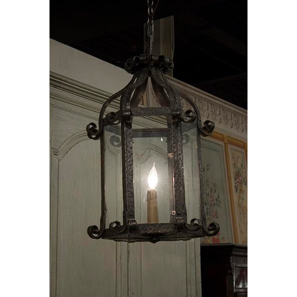French Lantern Chandelier For Sale - Image 4 of 4