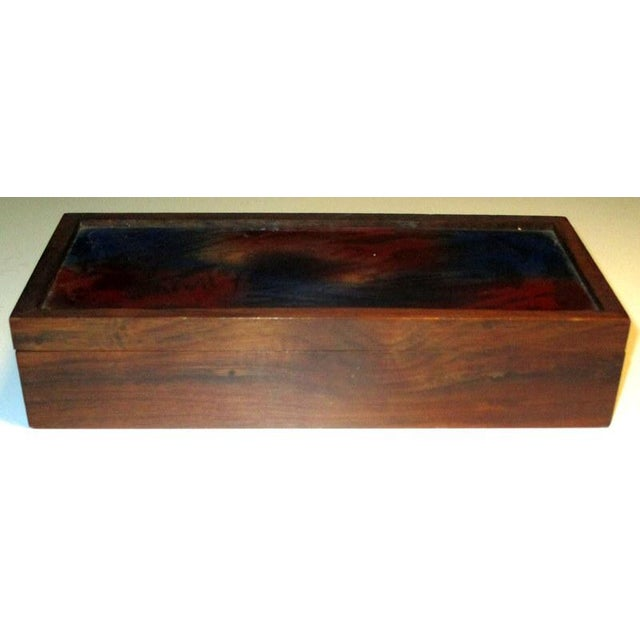 1960s Mid-Century Modern Rosewood Box With Abstract Enamel Top For Sale In Tampa - Image 6 of 7