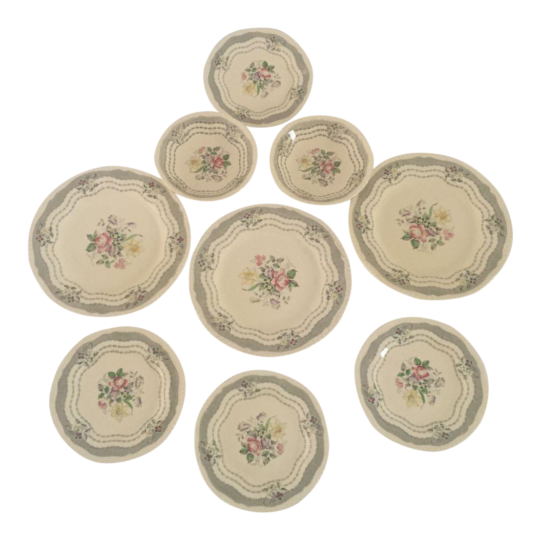 Vintage Cottage Style Floral Mixed Dinnerware - Set of 9  sc 1 st  Chairish & Vintage Cottage Style Floral Mixed Dinnerware - Set of 9 | Chairish