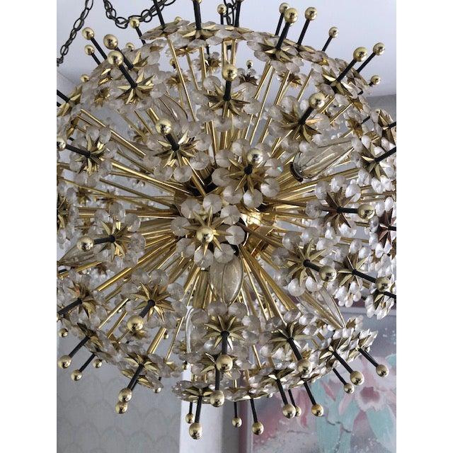 Mid 20th Century Swarovski Schonbek Sputnik Chandlier For Sale - Image 4 of 13