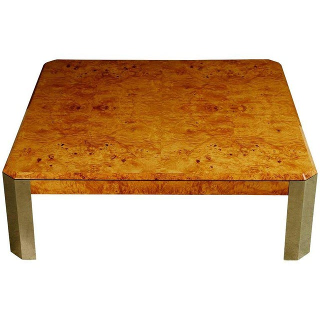 Brown Leon Rosen for the Pace Collection Burled Wood Large Coffee Table For Sale - Image 8 of 8