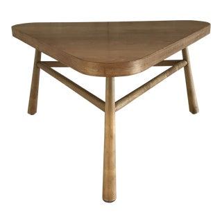 1960s Mid Century Modern Th Robsjohn Gibbings for Widdicomb Triangle Table For Sale