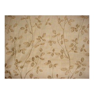 Kravet Couture Embroidered Linen Leaf Harvest Upholstery Fabric - 15 5/8 Yards For Sale