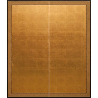 Early 20th Century Vintage Japanese Two Panel Screen For Sale