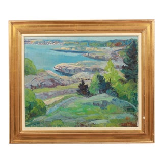 Vibrant Coastal Landscape by Niels Stougaard For Sale