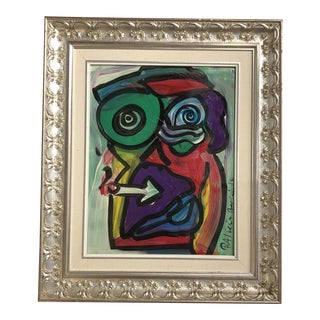 "Signed Peter Keil Face With ""Silver"" Frame For Sale"