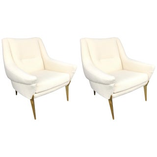 Pair of Armchairs by Charles Ramos, France, 1950s For Sale