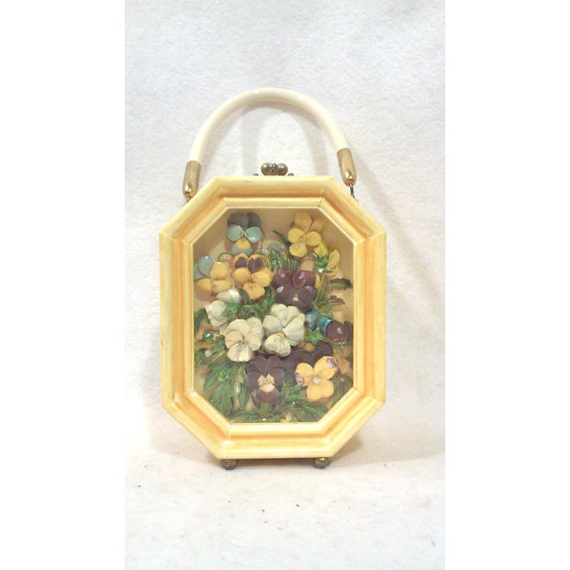 Bakelite Flora Box Purse - Image 3 of 7