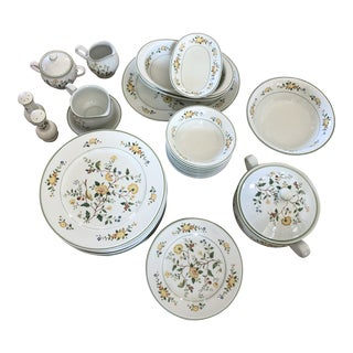 Vintage Noritake Versatone Serving Set - Set of 39 For Sale