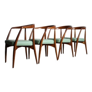 1960s Rare Lawrence Peabody Dining Chairs – a Set of 4 For Sale