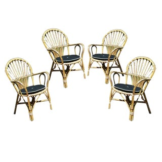 1940s Vintage Bent Bamboo Armchairs by Josef Frank- Set of 4 For Sale