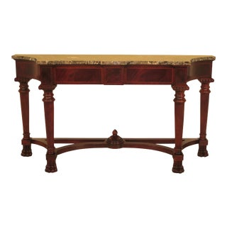 Century Marble Top Mahogany Console Table