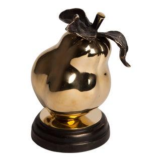 Contemporary Bronze Pear Figurine / Sculpture For Sale