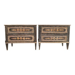 19th Century Italian Neoclassic Chests - a Pair For Sale