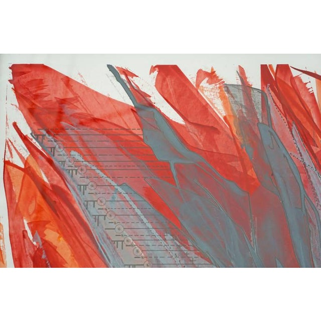 """""""IR-1534 Red Fire"""" Painting - Image 4 of 7"""