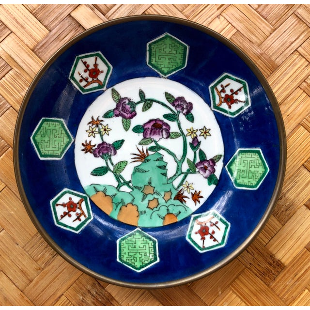 20th Century Chinese Floral Porcelain Catchall Dish For Sale - Image 10 of 10
