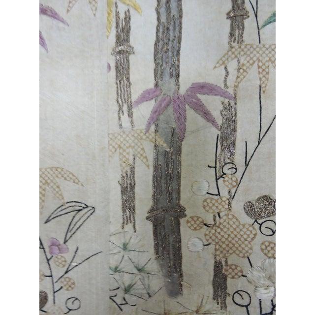 Bamboo Antique 19th C. Japanese Scroll Painting - Edo Period Kakejiku For Sale - Image 7 of 8