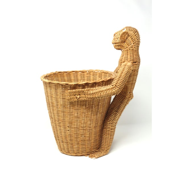 1970s Mario Lopez Torres Monkey Waste Basket or Trash Can For Sale - Image 5 of 9