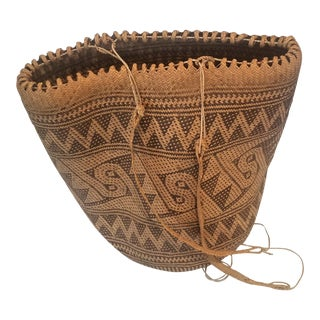 20th Century Tribal Penan Borneo Armbong Basket From Malaysia For Sale