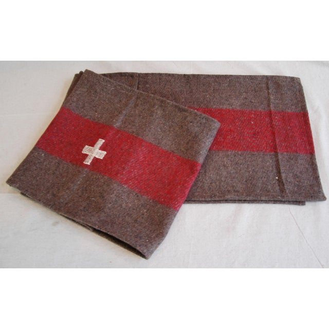 Custom Tailored Swiss Wool Blanket Table Runner For Sale - Image 4 of 6