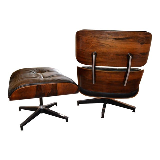 Vintage Eames for Herman Miller Rosewood Lounge Chair & Ottoman - A Pair - Image 2 of 6