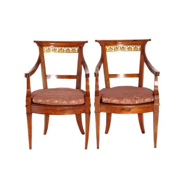 Pair of Italian Neoclassical Armchairs For Sale - Image 13 of 13