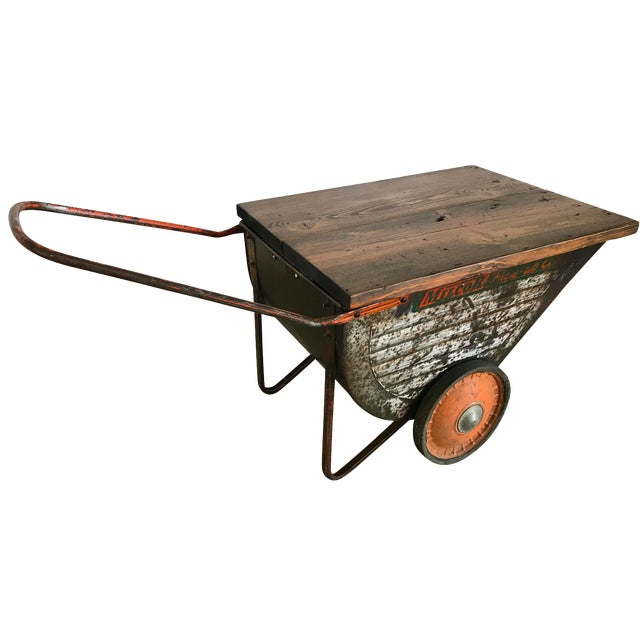 Vintage Industrial Cart Table or Beverage Cart - Image 1 of 10